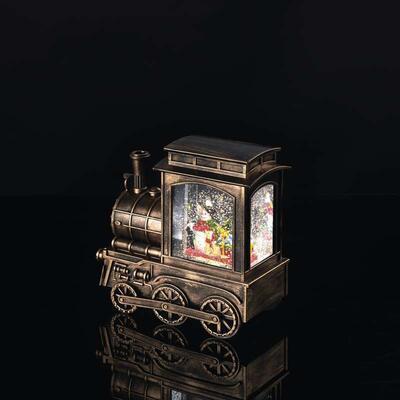 Vánoční LED mašinka, 17x16cm, 3x AA, časovač - 3
