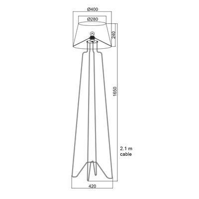 Stojací lampa Wire - 3