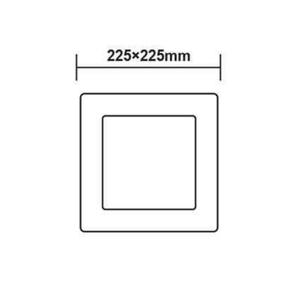 Přisazený LED panel 18W 225x225 mm - 3