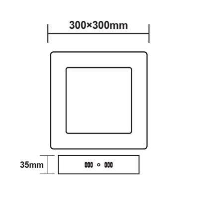 Přisazený LED panel 24W 300x300 mm - 3