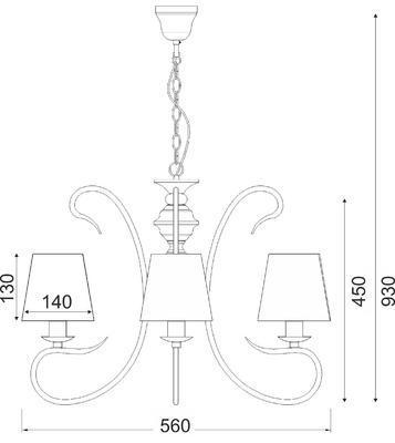 Závěsný lustr Hem - 1 - 3