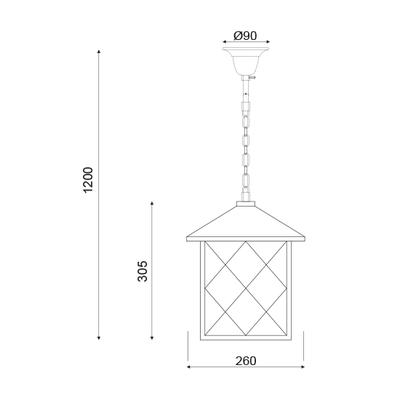 Závěsné svítidlo Lantern - 2 - 3
