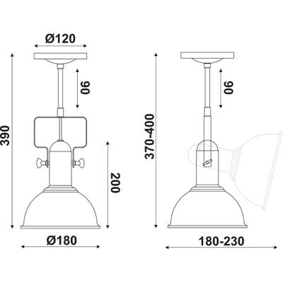 Stropní/Nástěnné svítidlo Rusty Bucket 1 - 3