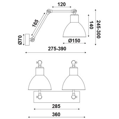 Nástěnné svítidlo Arm - 2 - 3