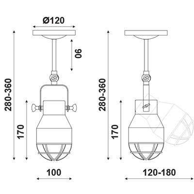 Stropní/Nástěnné svítidlo Headlight 1 - 3