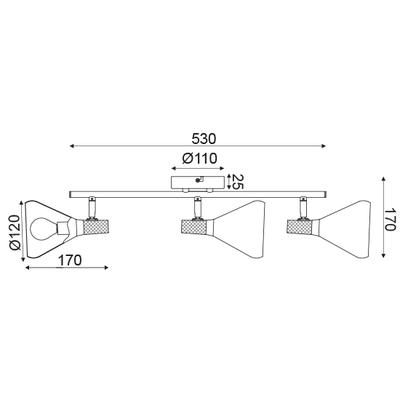 Stropní svítidlo Bell - 3 - 3