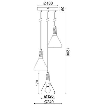 Závěsné svítidlo Bell - 1 - 3
