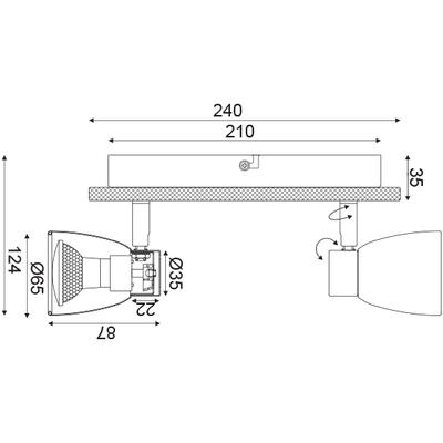 Stropní/Nástěnné svítidlo Chipboard 2 - 3