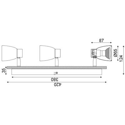 Stropní/Nástěnné svítidlo Chipboard 3 - 3