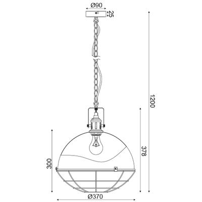 Závěsné svítidlo Graphite - 3