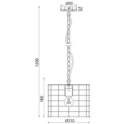 Závěsné svítidlo Fence - 1 - S - 3