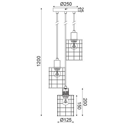 Závěsné svítidlo Fence - 2 - 3
