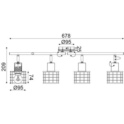 Stropní svítidlo Fence - 1 - 3