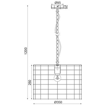 Závěsné svítidlo Fence - 1 - L - 3