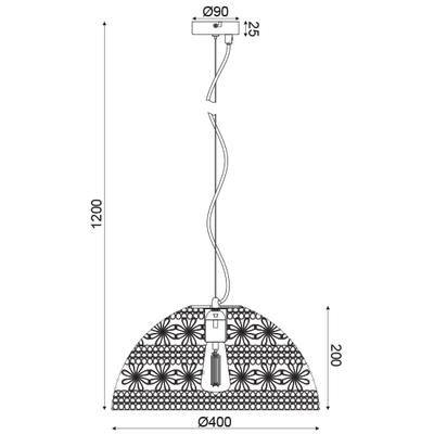 Závěsné svítidlo Crochet - 1 - 3