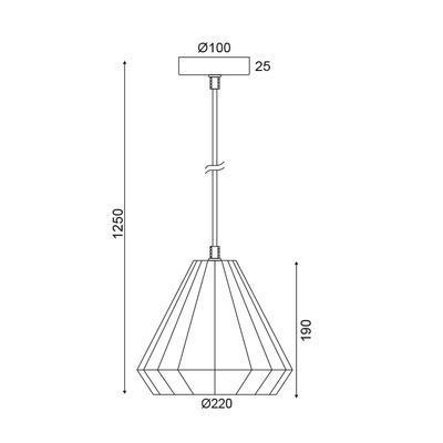 Závěsné svítidlo Cuprum - 3 - 3