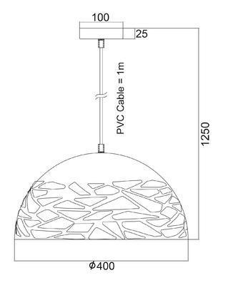 Závěsné svítidlo Leaky - S - 3