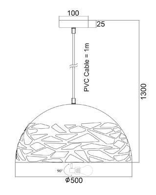 Závěsné svítidlo Leaky - L - 3