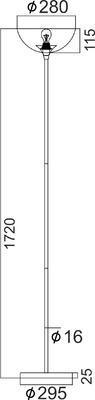 Stojací lampa Straight - 3