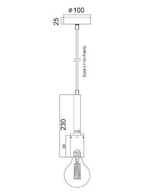 Závěsná objímka Nail - rez - 3