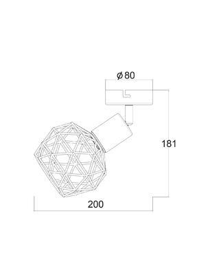 Stropní/nástěnné svítidlo Cage 1 - 3