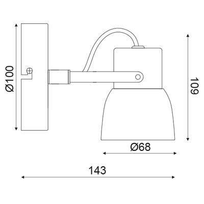 Stropní/Nástěnné svítidlo Cement Spot 1 - 3