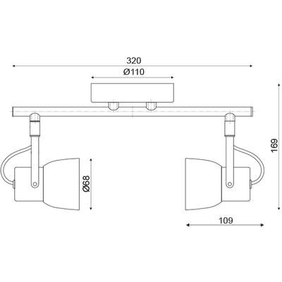 Stropní/Nástěnné svítidlo Cement Spot 2 - 3