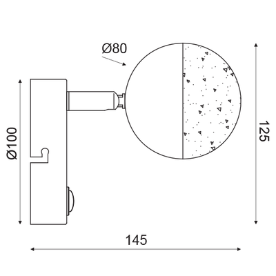 LED svítidlo Half Ball 3 - 3
