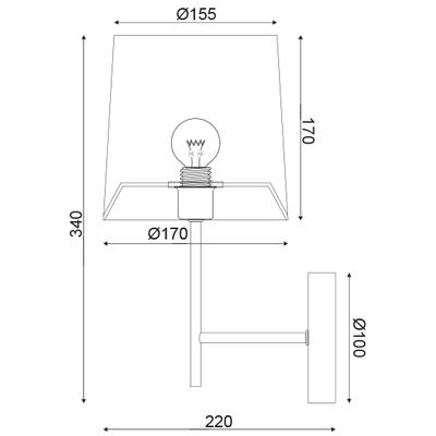 Nástěnné svítidlo Veneer - 3