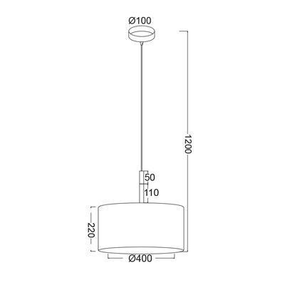 Závěsné svítidlo Timber - L - 3