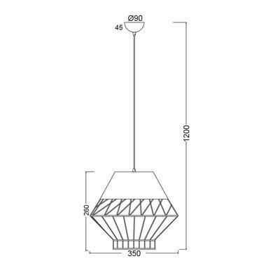 Závěsné svítidlo Netting - 3