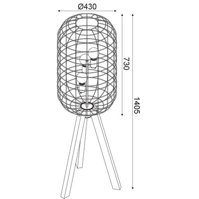 Stojací lampa Cage - 3
