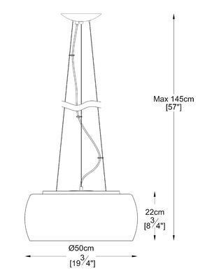 Závěsné svítidlo CRYSTAL 6X - 3