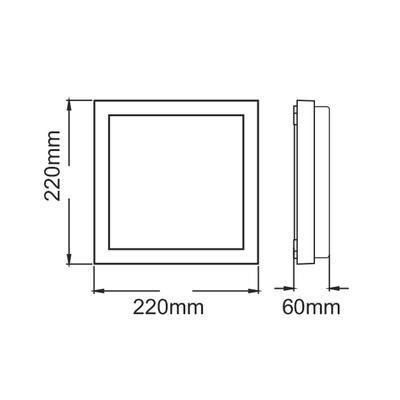 Fasádní LED svítidlo Flat - Square - 3