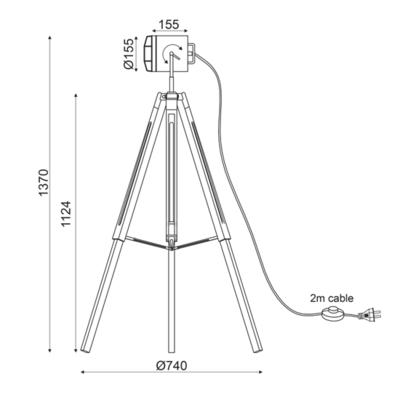 Stojací lampa Headlight - 3