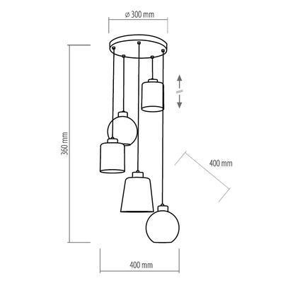 Závěsné svítidlo PEDRO GLASS - 2 - 3