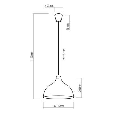 Závěsné svítidlo CAP, bílá - 3