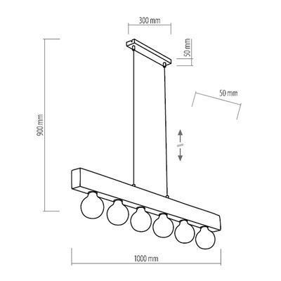 Závěsné svítidlo ARTWOOD - 2, světlé dřevo - 3