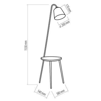 Stojací lampa Lami Table, šedá - 3