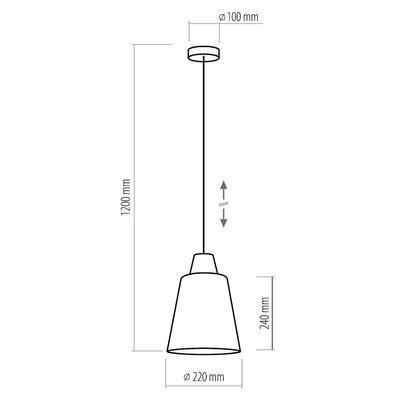 Závěsné svítidlo TRICK, jantarové sklo - 3