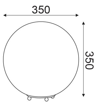 Stolní lampa Globe - L - 3