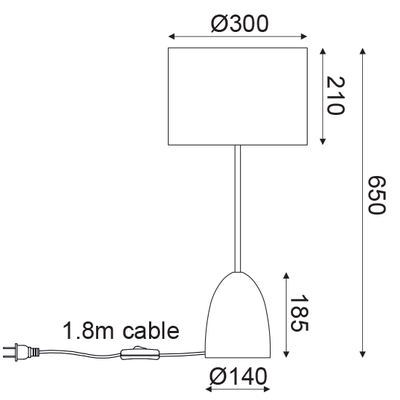 Stolní lampa Clay - 3