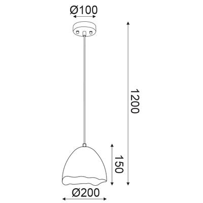 Závěsné svítidlo Shell - S - 3