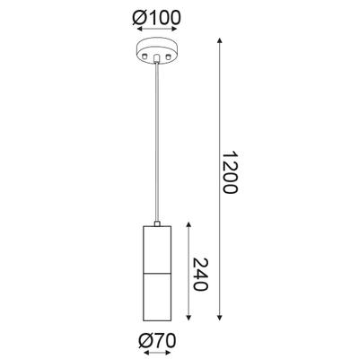 Závěsné svítidlo Pipe - 2 - 3