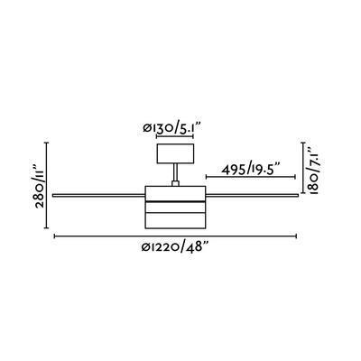 """Stropní ventilátor PANAY - 48"""" - 3"""