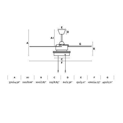 "Stropní ventilátor KOMODO - 41,73"" - reverzní - 3"