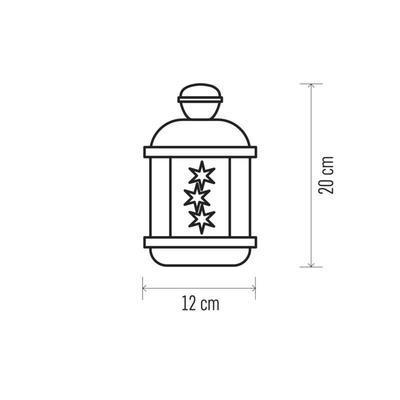 Vánoční dekorativní LED lucerna s časovačem - 3 - 3