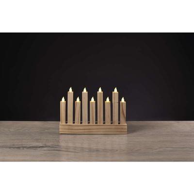 Dekorativní LED svícen 8 - dřevo - 3