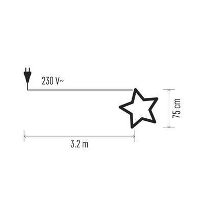 Vánoční papírová Hvězda 75cm - stříbrná - 3
