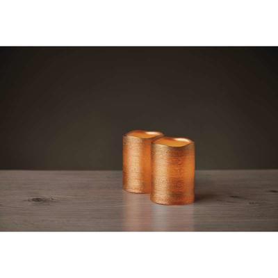 2x dekorativní vosková zlatá LED svíčka - 10cm - 3